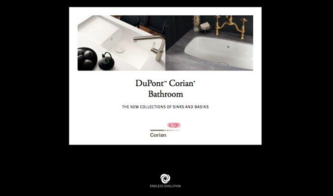 catálogo de baños dupont corian